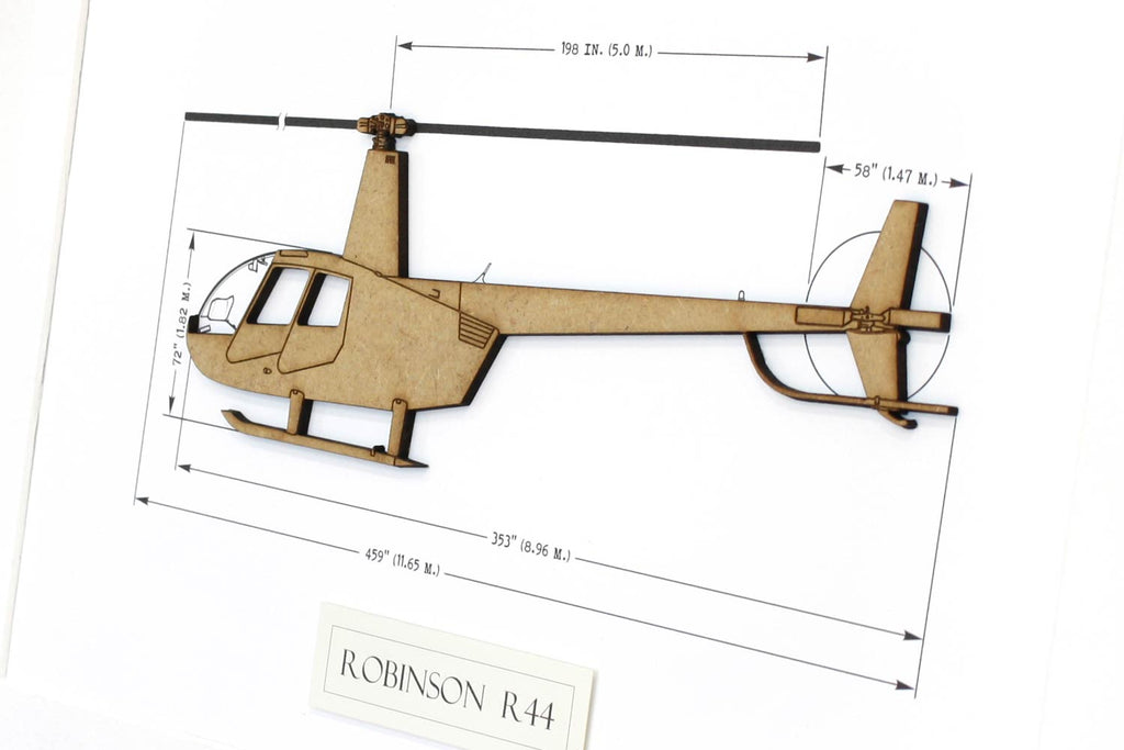 Robinson R44 helicopter art