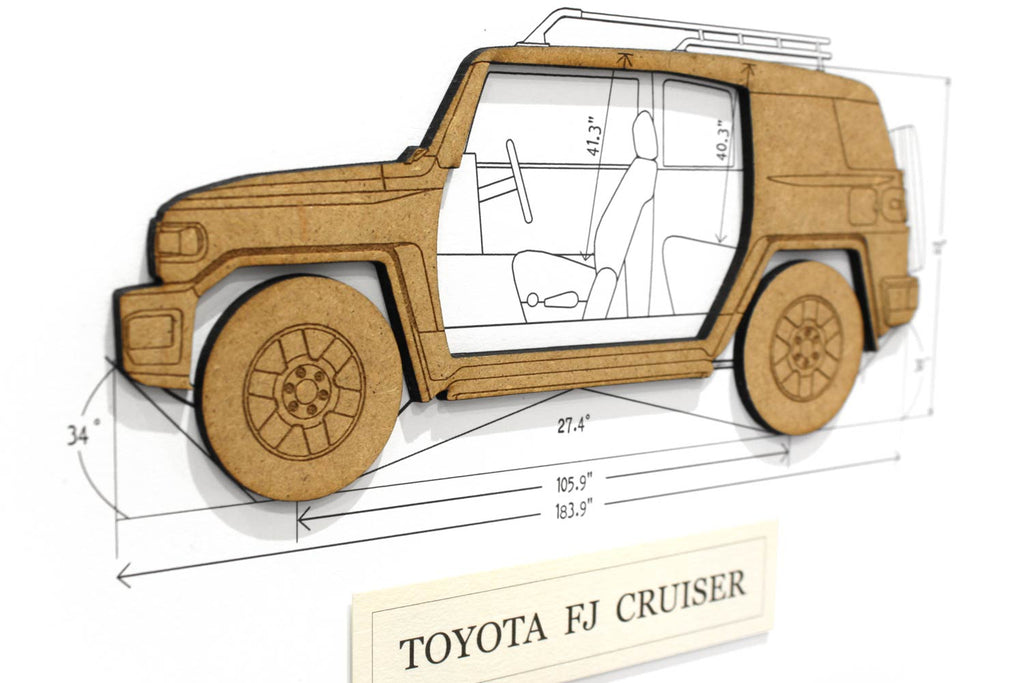 Toyota FJ Cruiser blueprint art gift