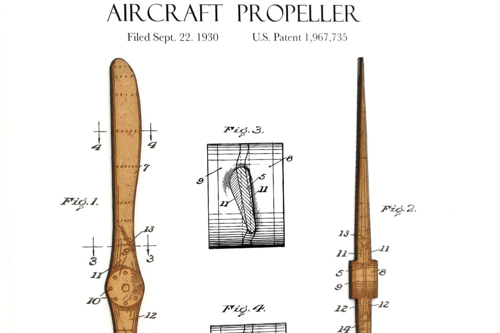 Aviation decor, aircraft propeller patent art