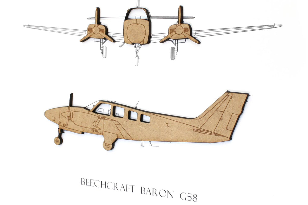 Beechcraft Baron G58 art