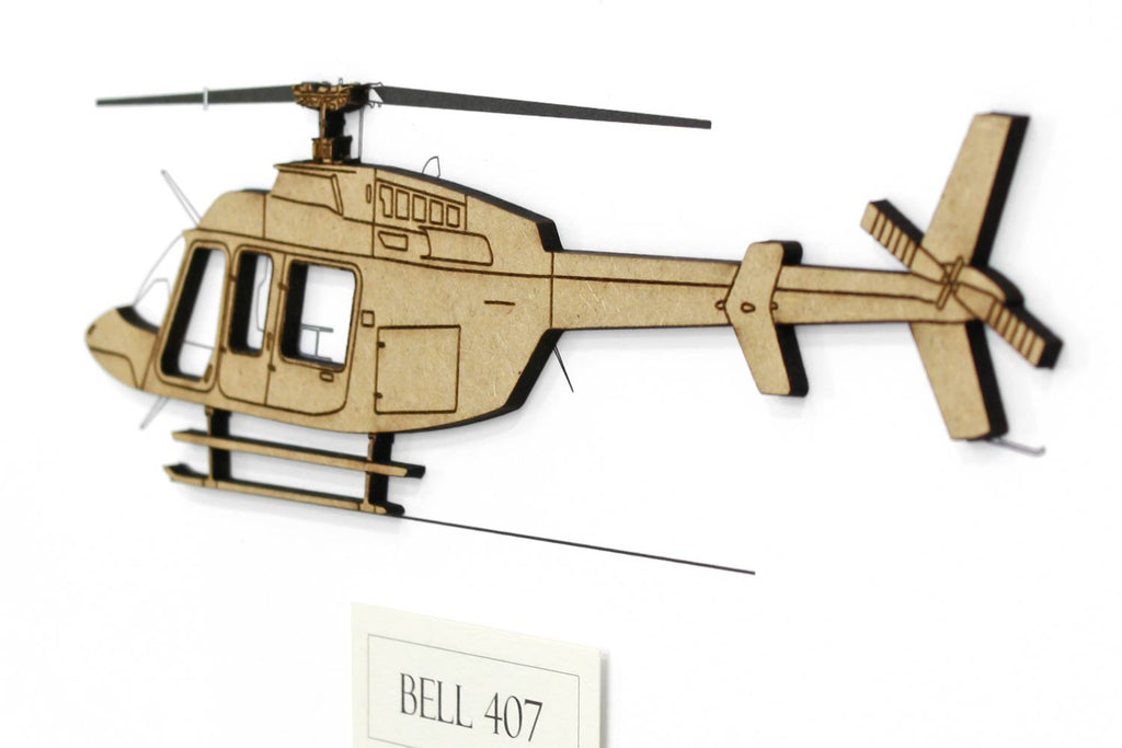 Bell 407 helicopter art