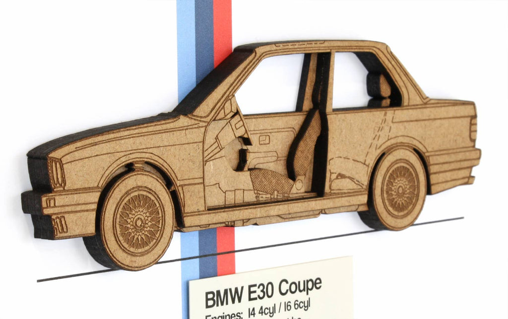 BMW E30 blueprint art