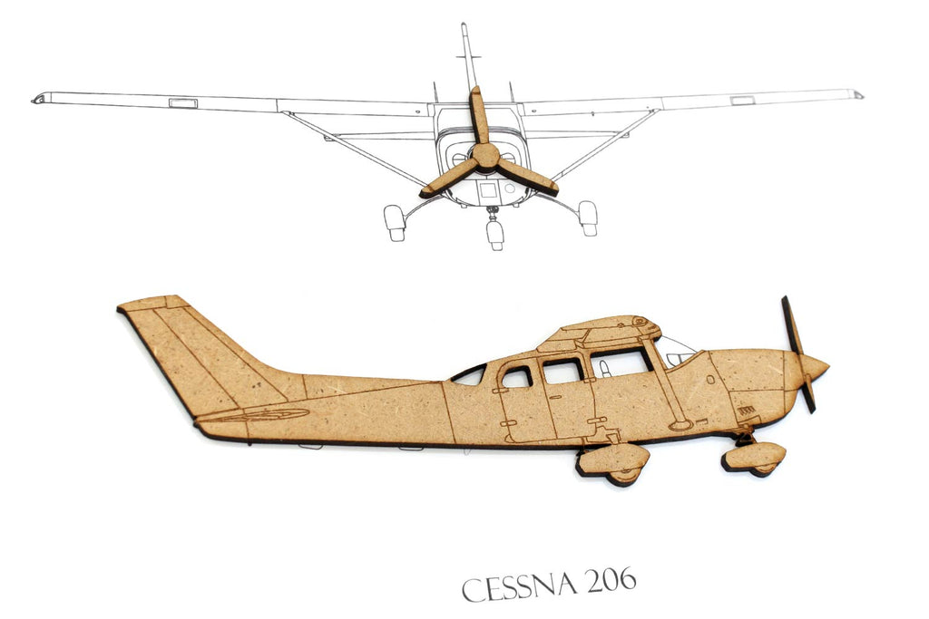 Cessna 206 Stationair art, aviation gifts