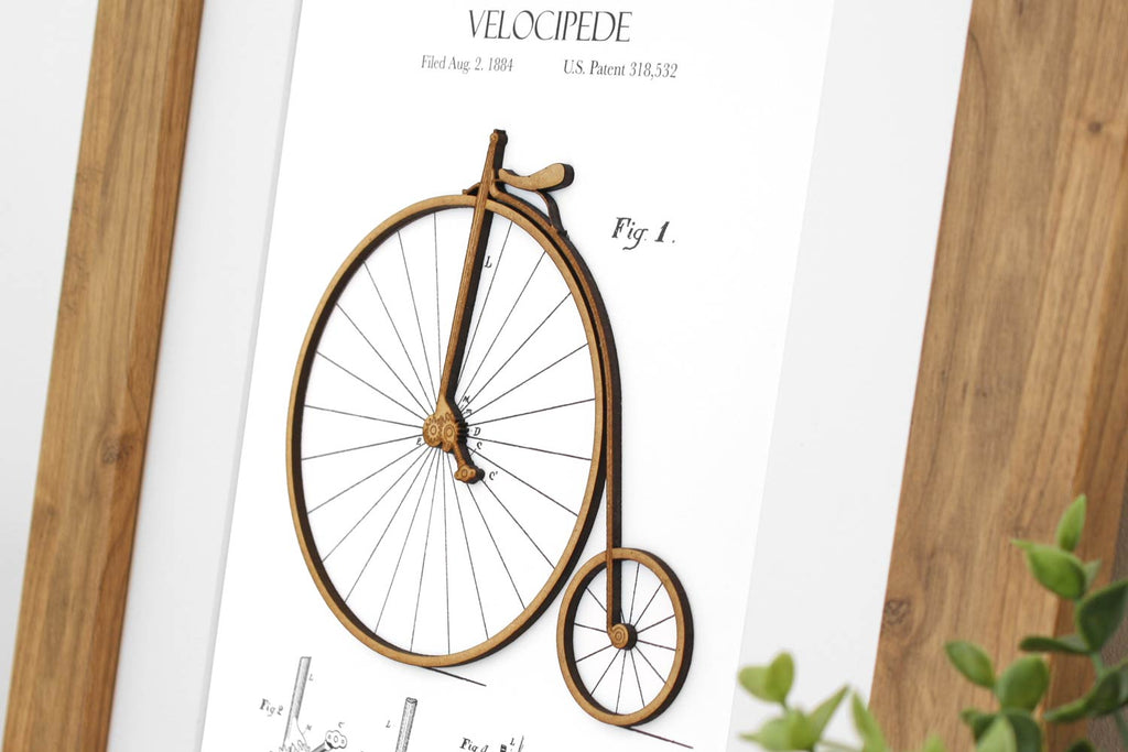 cycling gift, bicycle art