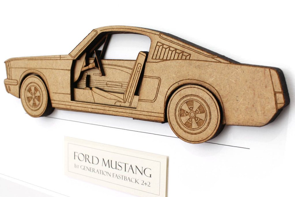 Ford Mustang gift, Mustang fastback art