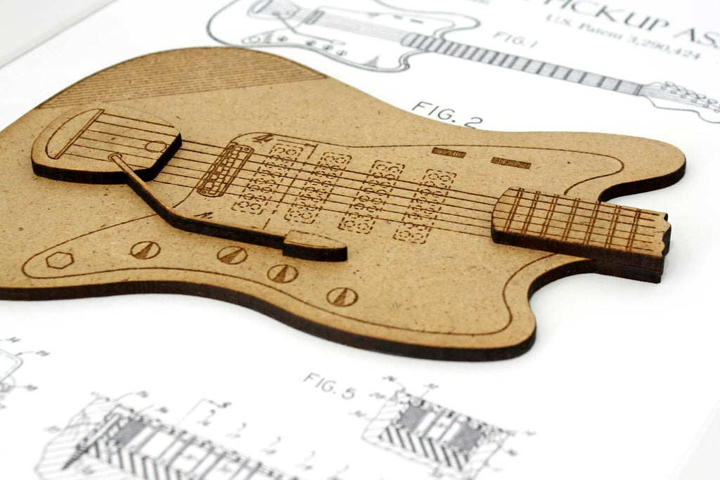 Guitarist gift, electric guitar art