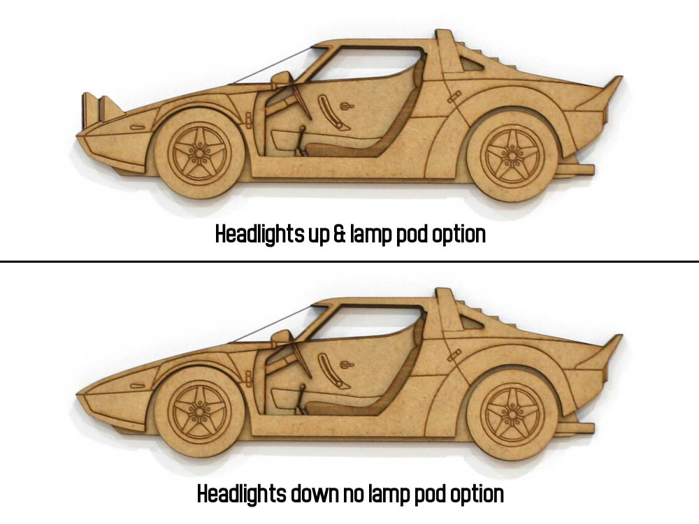 Lancia Stratos Art headlights up and down options