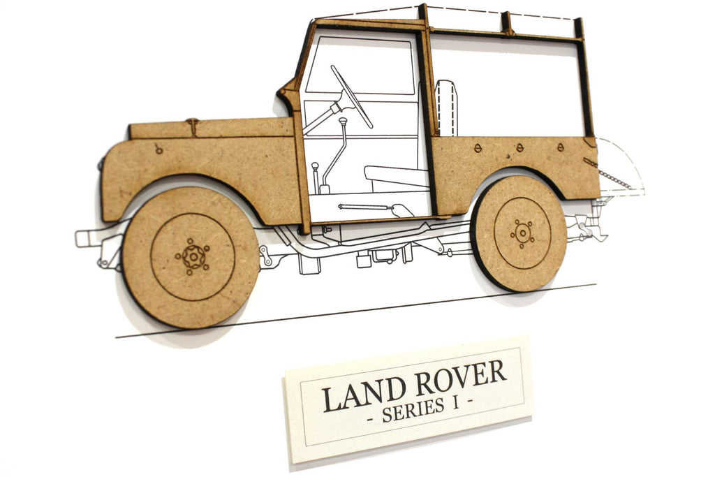 Land Rover Series I gift, Land Rover art