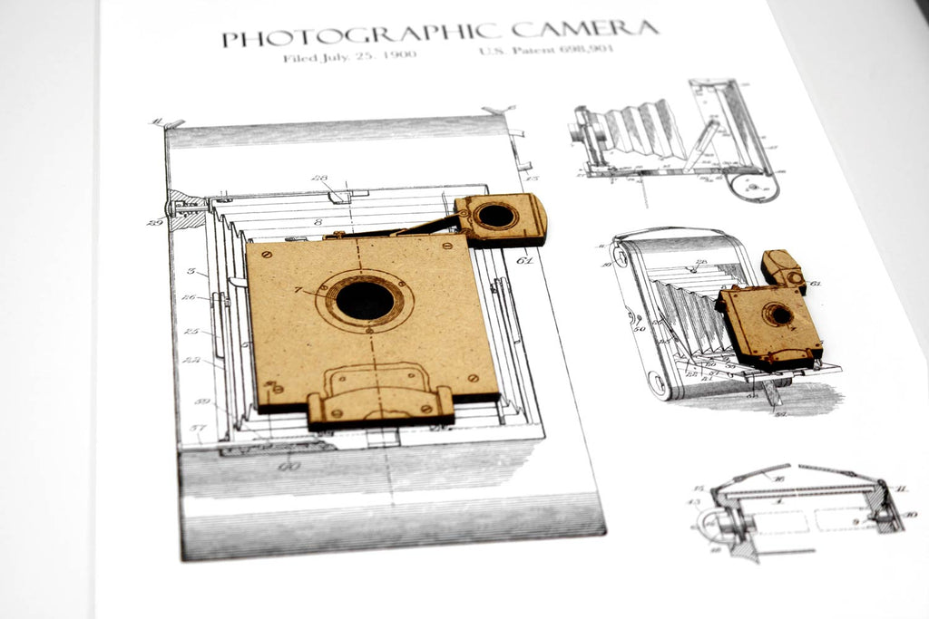 Photography gift, Camera patent art