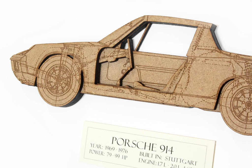 Porsche 914 blueprint art