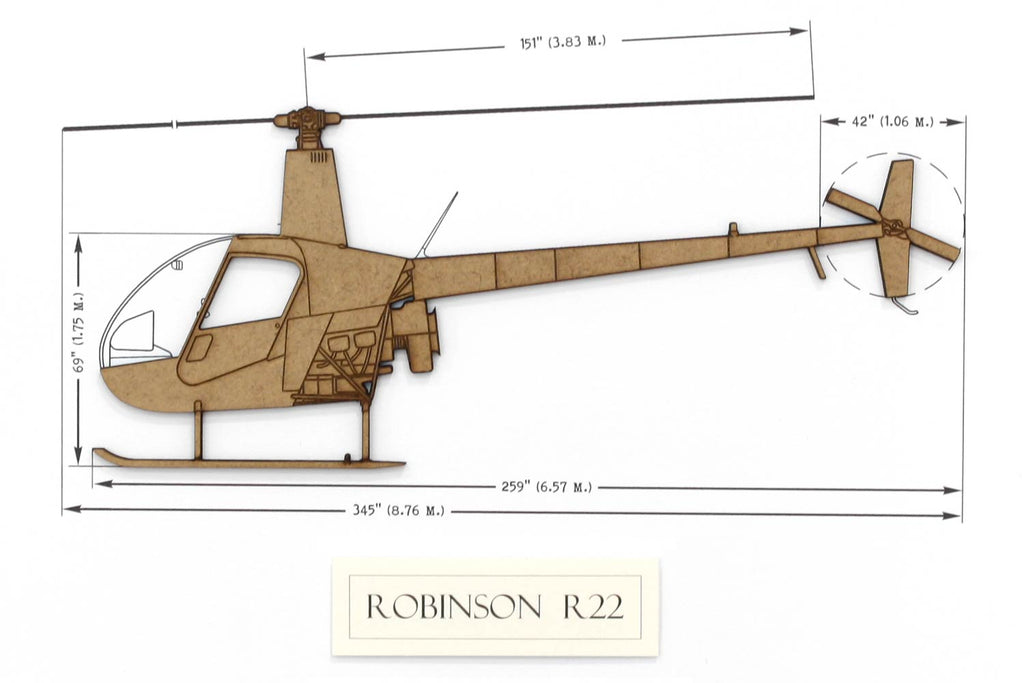 Robinson R22 helicopter art gift