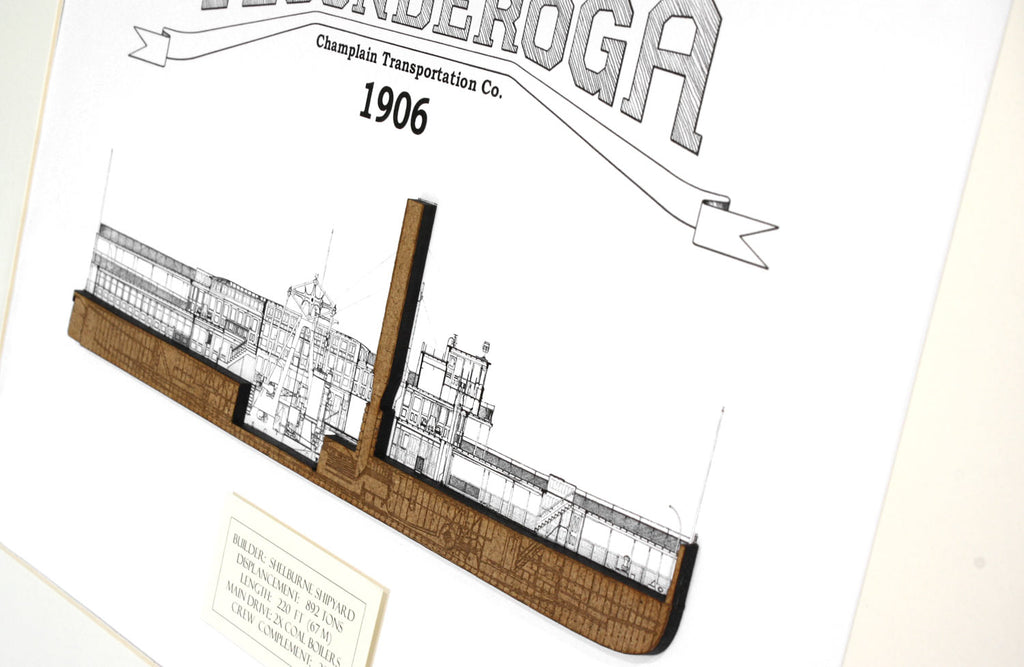 Ticonderoga steamboat blueprint