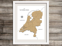 map of the netherlands home decor
