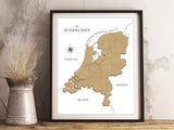 map of the netherlands wall art