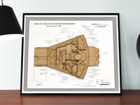 space art, Mercury capsule blueprint art