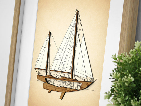 sailboat art, nautical gifts