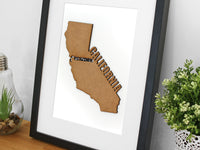 Custom Wood California Map