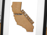 personalized map of California