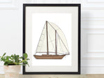 "Sailboat Wall Art, Nautical Home Decor, Laser Cut Wood, 8x10"" or A4 sized"