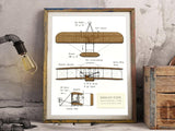 Wright Flyer blueprint art