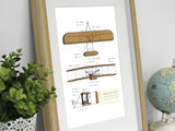 Aviation Art, Wright Flyer wall art