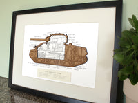 Sherman tank wall art