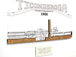 Ticonderoga steamboat wall art nautical decor