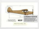 Custom Piper PA-18 Super Cub art