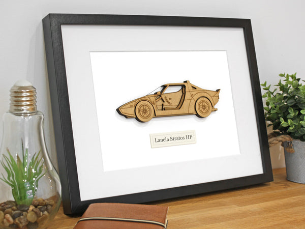 Lancia Stratos blueprint art