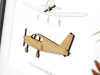 Piper PA-28-140 Cherokee blueprint art