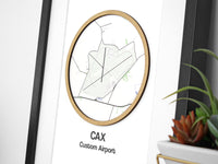 aviation gift airport map art