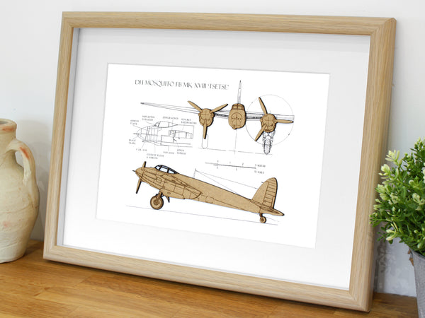 de Havilland Mosquito aviation art