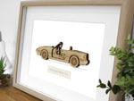 Mazda MX-5 Miata NA Art, Laser Cut Wood, 8x10 or A4 sizes