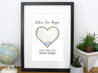 Where Love Began anniversary gift