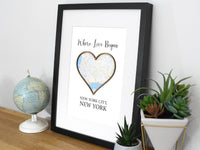 Where Love Began map gift
