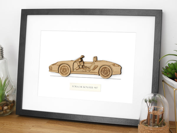 Porsche Boxster 987 blueprint art