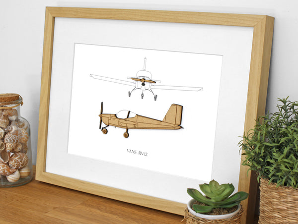 Vans RV-12 aviation art