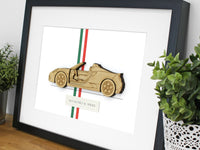 Alfa Romeo 4C Spider blueprint art