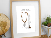 doctor gifts, stethoscope art