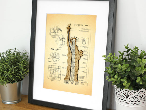 "Statue of Liberty Art, New York Decor, 8x10"" or A4 sized"