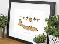 Lockheed C-130H Hercules blueprint art