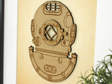 Navy Mark V diving helmet nautical art