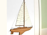 "Sailboat Decor, Nautical Decor, Sailing Boat Art, Laser Cut Wood, 8x10"" or A4 sized"