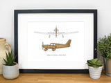 Piper PA 28 180 Cherokee aviation art gift
