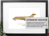 custom aviation art, Bombardier Challenger 300