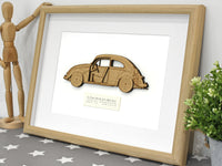 original VW Beetle blueprint art