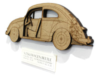 VW Beetle blueprint art gift