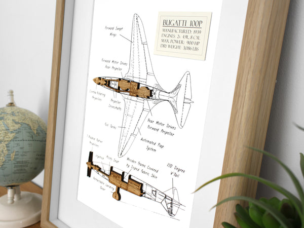 Bugatti 100P aviation gifts