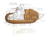 Renault FT-17 tank wall art