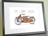 Motorcycle Patent Art, Harley Davidson Decor
